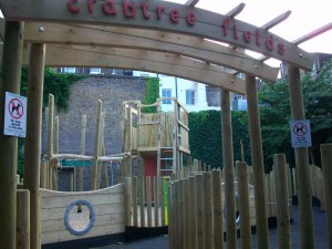 Crabtree Fields children's play area, Fitzrovia