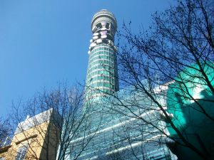 The BT Tower. Apparently the Angry Brigade tried to blow this up in the 1970s because modern architecture made them more angry