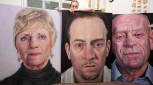 Derren Brown paintings. At Rebecca Hossack Gallery, Saturday 12 March