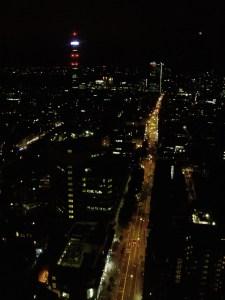 Tottenham Court Road at night