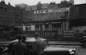 The scene of the murder outside Jay's Jewellers on the corner of Tottenham Street and Charlotte Street.