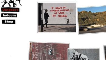 Part of Banksy's website showing outdoor works.