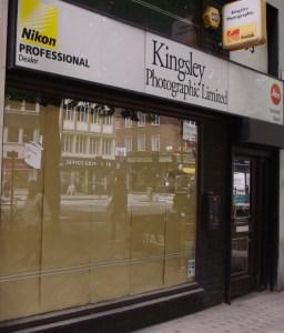 Shopfront of photography shop.