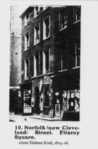 Picture of Georgian house where Charles Dickens lived.