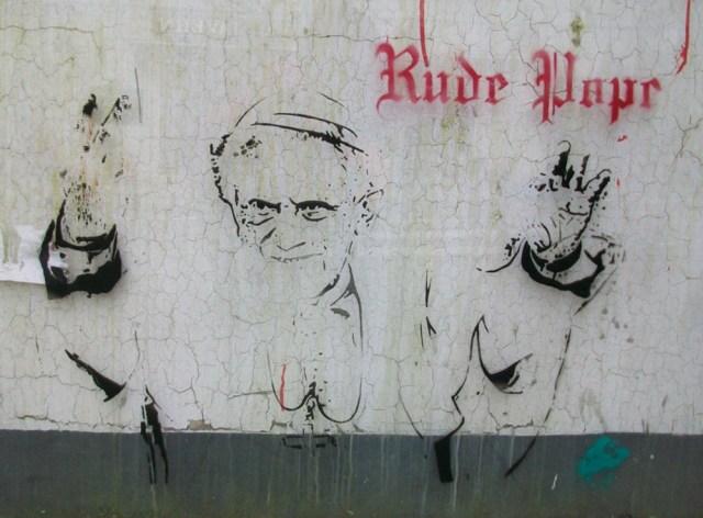Stencil image by street artist Bambi.