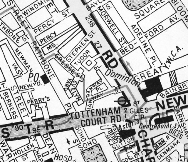 Map of Tudor Place.