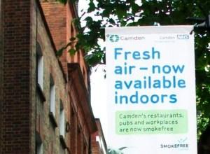 Smoke free banner.