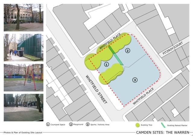 Plan of The Warren open space.