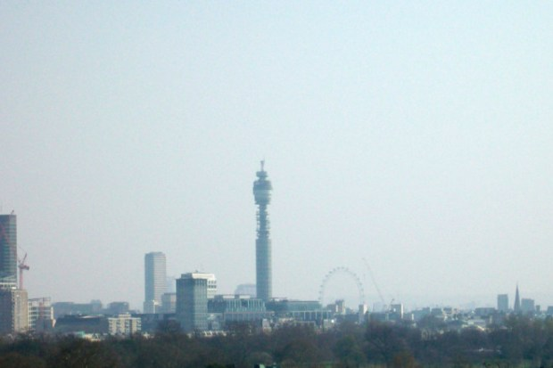 Smog over central London.