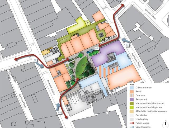 Plan of development site.