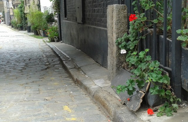 Crushes plants and damaged cobblestones.