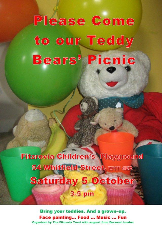 Teddy bears and balloons.