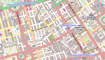 Fitzrovia map.