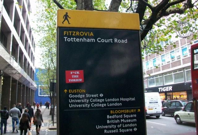 Pedestrian sign.