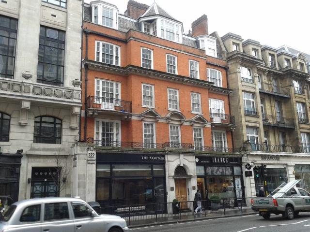 Buildings on Great Portland Street.
