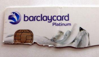 Cut up bank card.