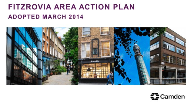 Cover of Fitzrovia Area Action Plan.
