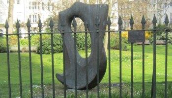 Bronze resin sculpture.