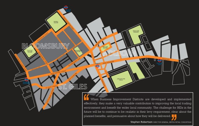 Map of Midtown BID area.