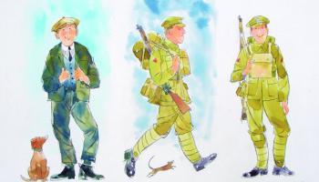 Watercolour illustration.