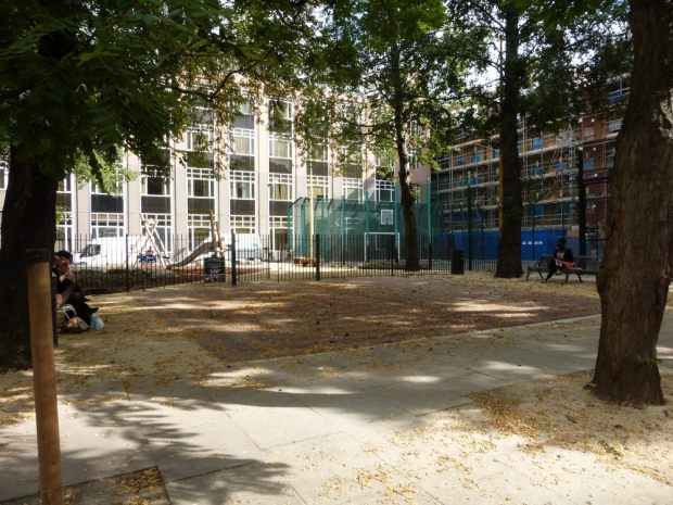 Playground and open space.