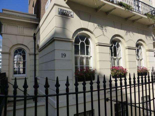 Front of Georgian building.