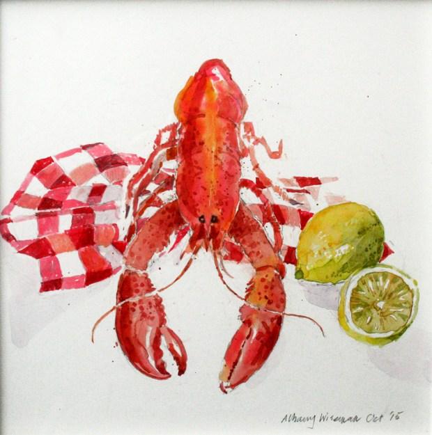 Lobster watercolour.