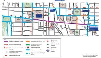 TfL map of Oxford Street west district.