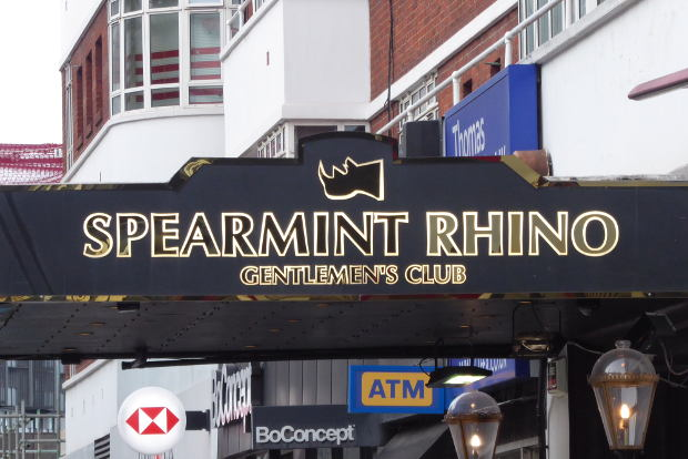 Frontage to night club.