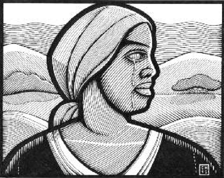 Drawing of Mary Prince.