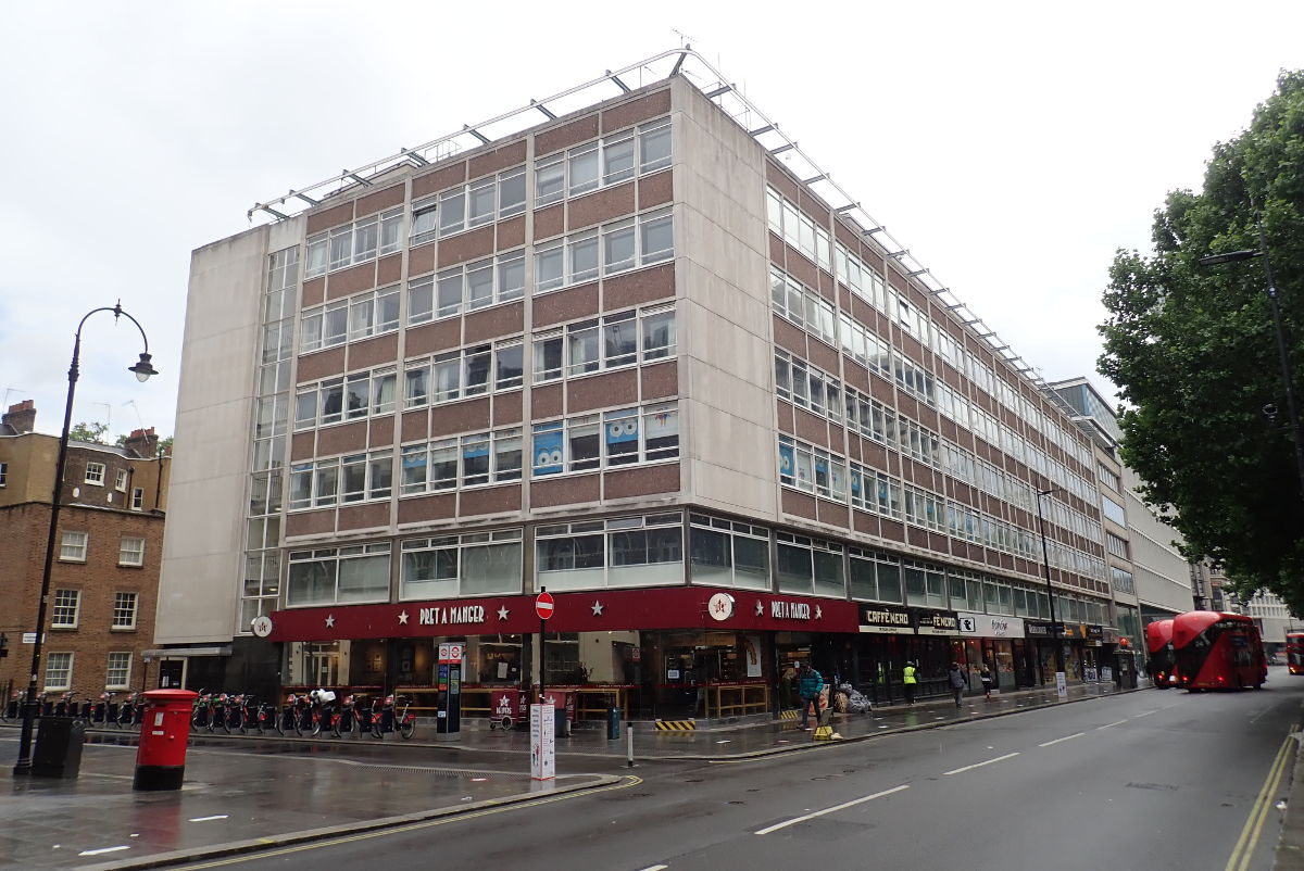 Street view of building.