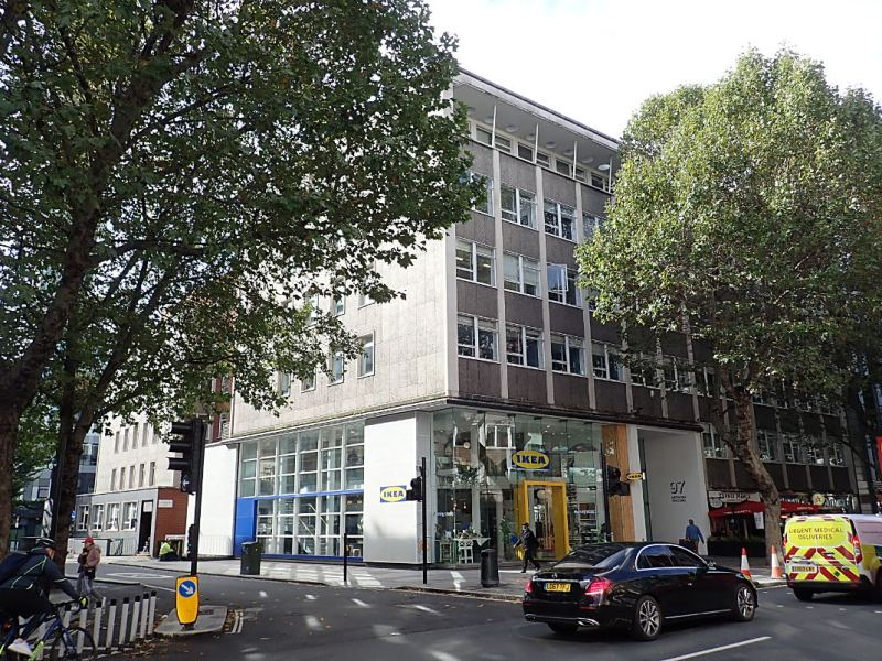 The Network Building on Tottenham Court Road.