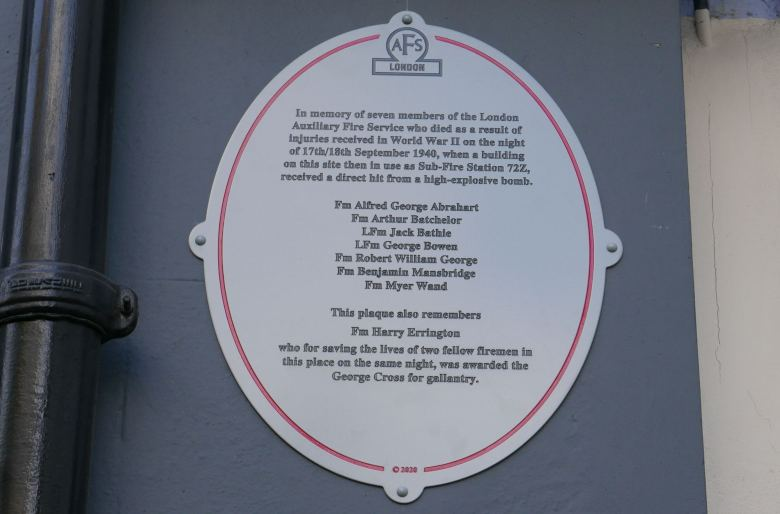 Plaque on wall.