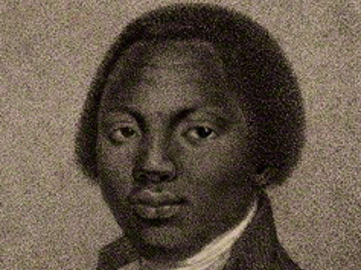 Drawing of Olaudah Equiano.