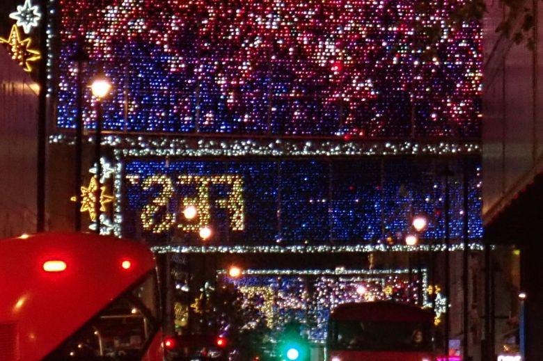 Lights on Oxford Street.