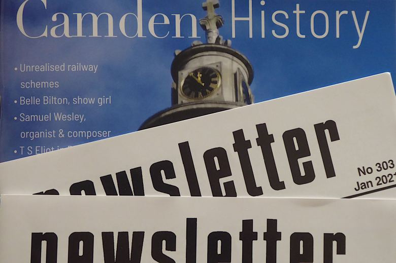 Photo montage of Camden History Society publications.