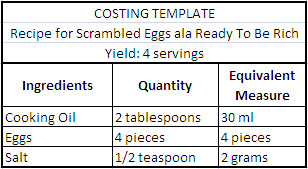 step-1-costing-template