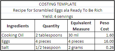 step-2-costing-template