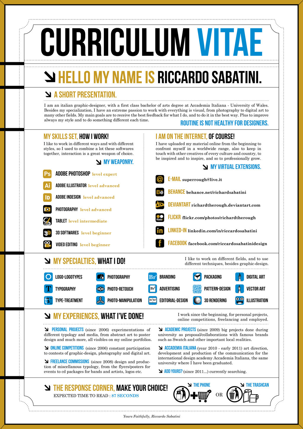 Resume Infographic How To Make An Infographic Resume
