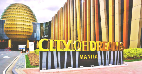 Casino resort estate City of Dreams Manila in the Bay City is home to a Hyatt hotel.