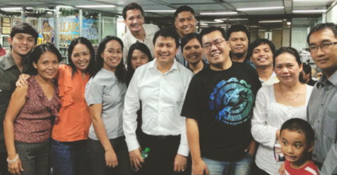 With one of our mentors, Noel Arandilla, RFP