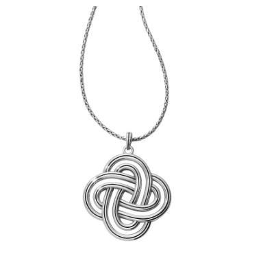 Brighton Interlok Spiral Statement Convertible Necklace