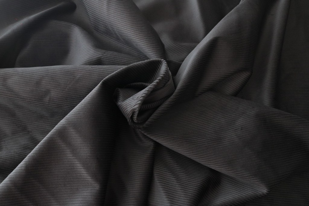 Organic Cotton Stretch Corduroy - Black