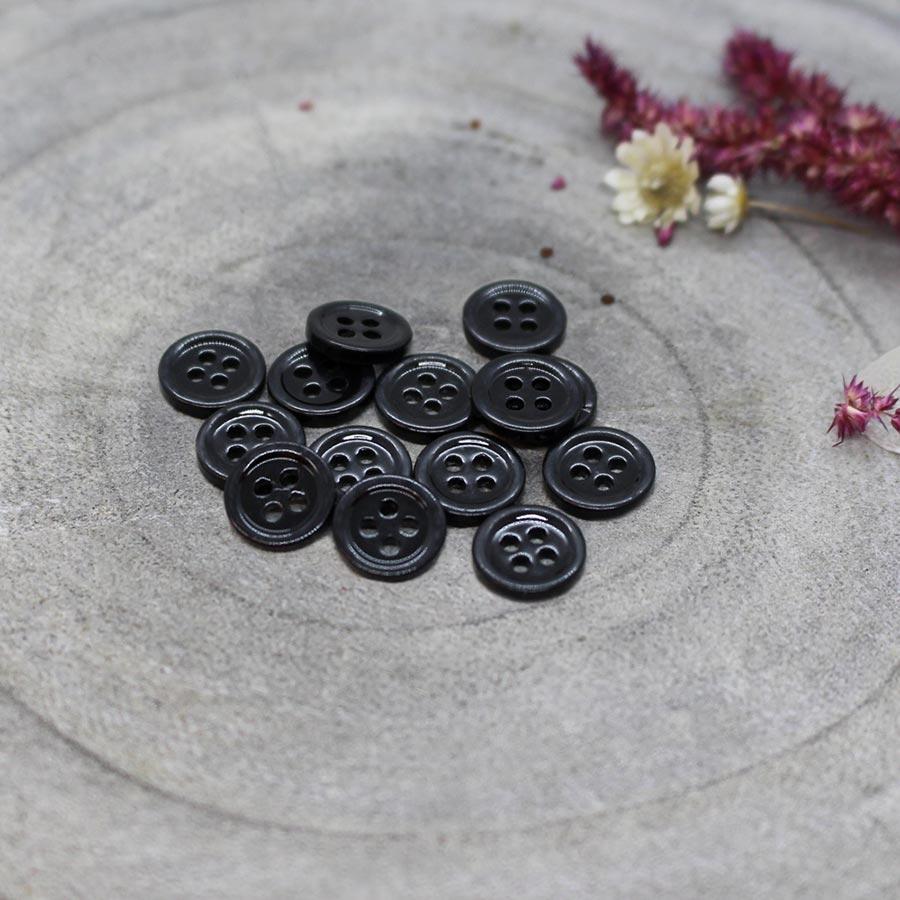 Atelier Brunette <br>Bliss Buttons -- Black, 9mm