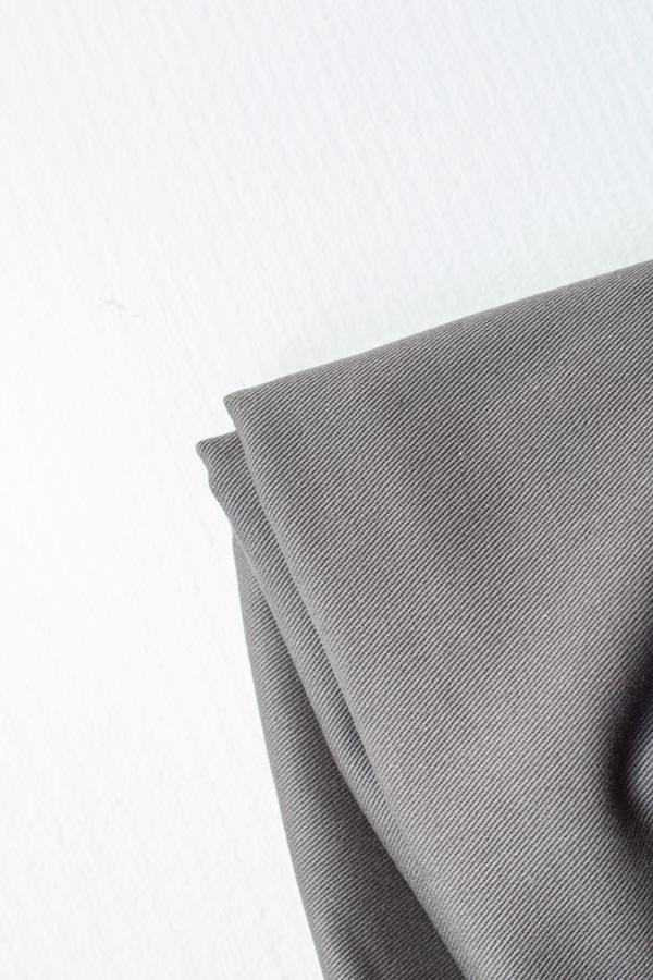 Mind the Maker <br>Washed Cotton Twill, 9oz — Dark Grey <br>SGS certified