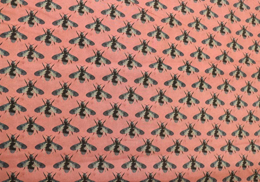 Lady McElroy <br>Honey Bees - Dusky Pink Marlie-Care Lawn