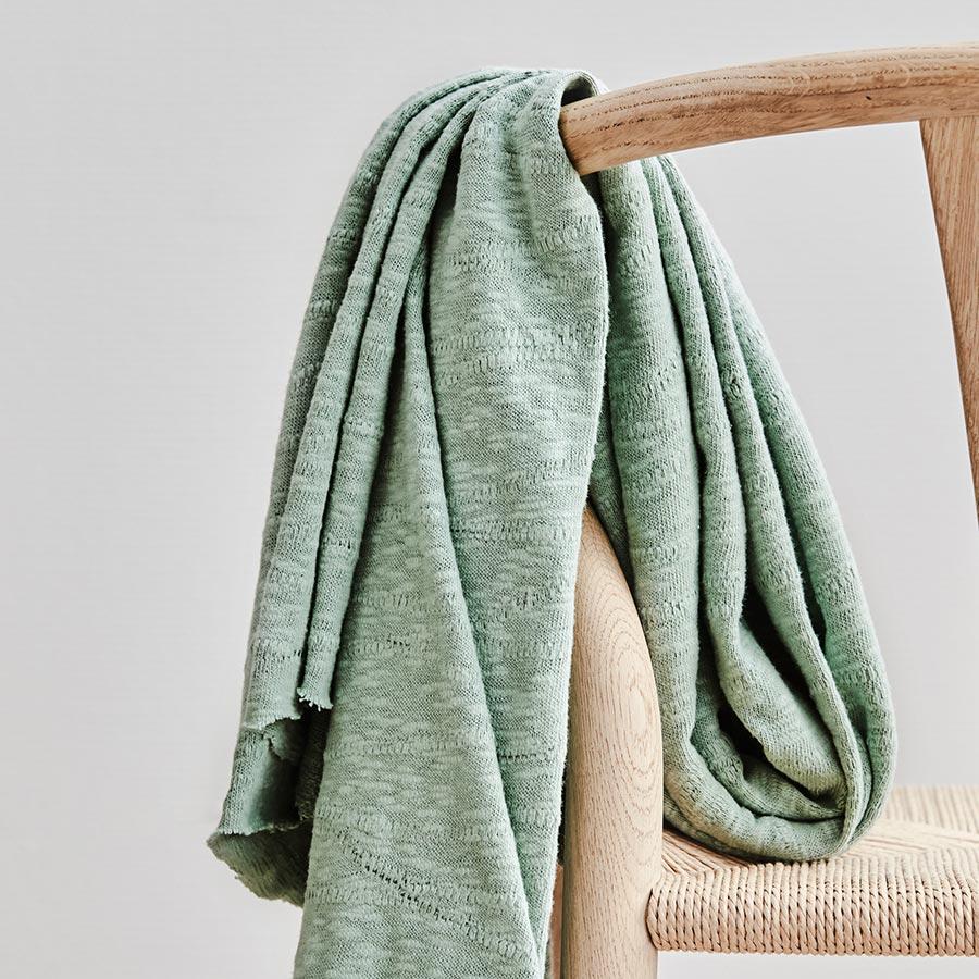 Mind the Maker Organic Slub Jacquard Knit -- Sage Green