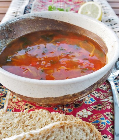 Tasty vegetable soup based on a Clean Cuisine recipe, made from home made stock