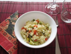 risotto for one served