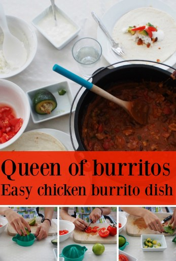 Queen of burritos, so easy your teenager can make them